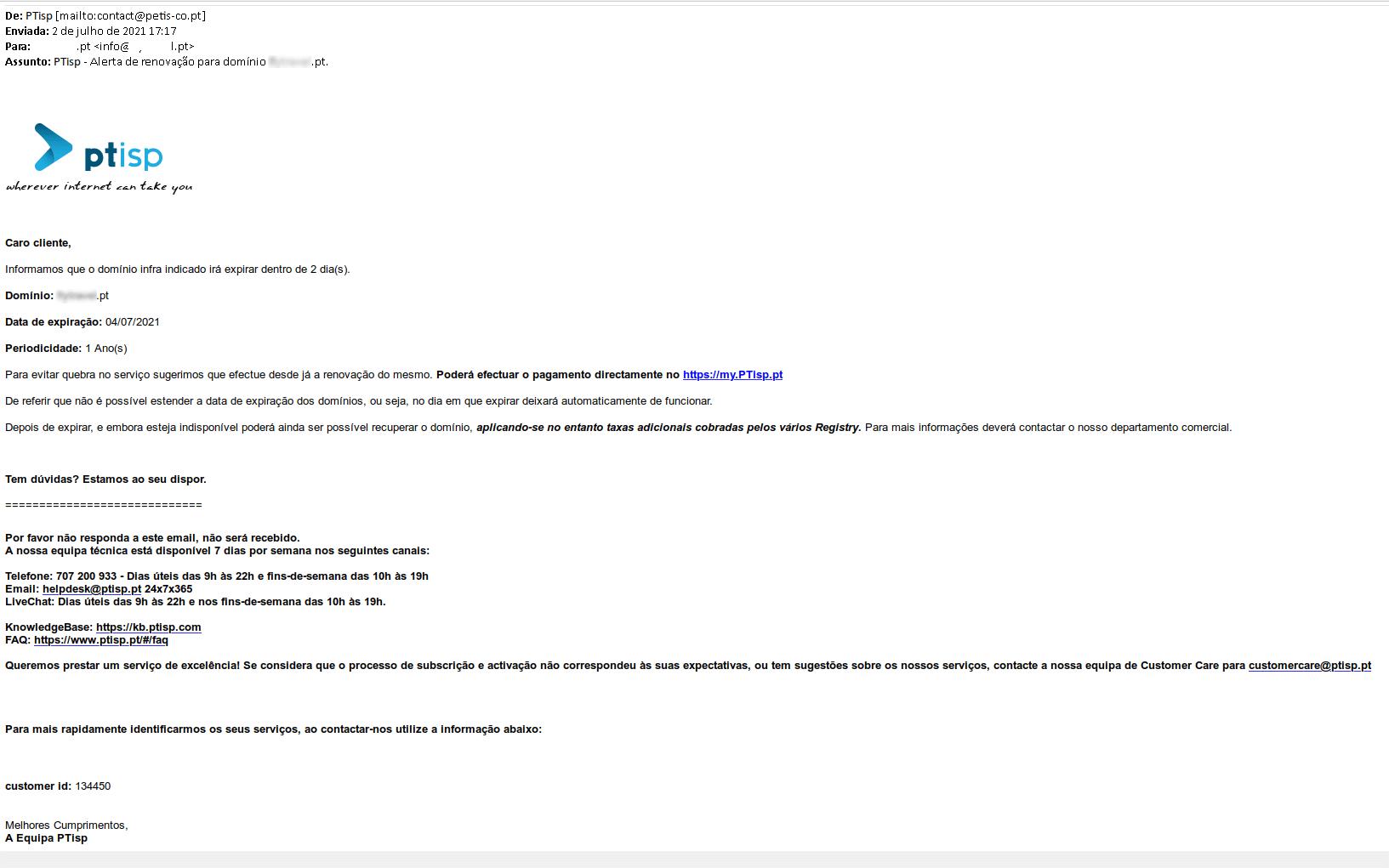 Mail de phishing