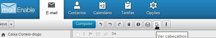 Ver cabeçalhos webmail windows